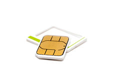 Micro nano simcard isolated on white background Royalty Free Stock Photography