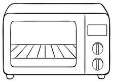 micro-onde illustration stock