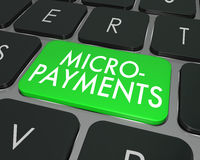 Micro Payments Words Computer Keyboard Buy Online Website Stock Image