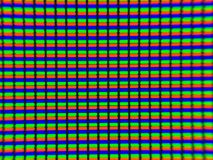 The micro photo of television LCD display. Stock Photo