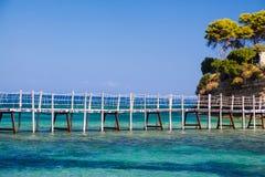 Micro ponte dell'isola di paradiso fotografie stock libere da diritti