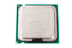 Micro processor over white Royalty Free Stock Photos