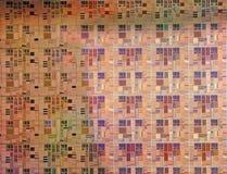 Micro processors. Production micro chip quartz plate Royalty Free Stock Photo