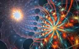 Micro- ruimte - fractal achtergrond Stock Afbeeldingen