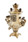 Micro samovar isolated. 2 inch samovar souvenir isolated on white background Royalty Free Stock Images
