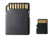 Micro sd card and adapter Stock Photo