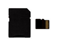 Micro sd card and adapter Royalty Free Stock Images