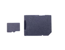 Micro SD card and adapter Stock Photos