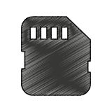 Micro sd card isolated icon Royalty Free Stock Image