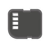 micro sd card isolated icon Royalty Free Stock Photos
