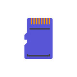 Micro SD Card vector icon Royalty Free Stock Photo