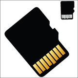 Micro SD Card. Vector illustration - Micro SD Card on a white background Royalty Free Stock Images