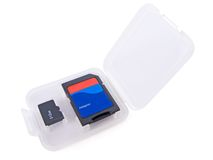 Micro SD memory card Stock Photos