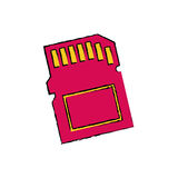 Micro SD memory card Royalty Free Stock Photo