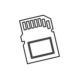 Micro SD memory card Royalty Free Stock Image