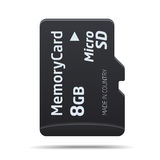 Micro SD memory card Royalty Free Stock Images