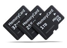 Micro SD memory card Royalty Free Stock Photo