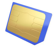 Micro sim card Royalty Free Stock Photos
