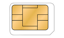 Micro SIM card illustration Stock Images