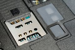 Micro sim card slot Royalty Free Stock Image