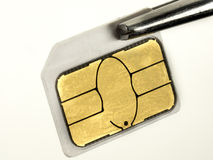 Micro-Sim Card Royalty Free Stock Photography