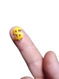Micro sinal de dólar Imagens de Stock