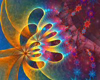 Micro space. fractal background Royalty Free Stock Images