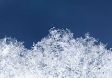 Micro structure of snowbank Royalty Free Stock Photography