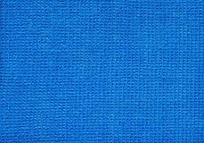 Micro tessuto blu della fibra Fotografia Stock