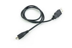 Micro usb cable Stock Image