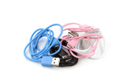 Micro USB Data Charging Sync Cable Royalty Free Stock Photo