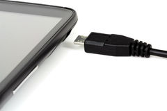 Micro USB kabel Arkivbild