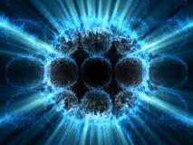Micro- van de fantasie globale lawaaierige transparante cellen Stock Illustratie