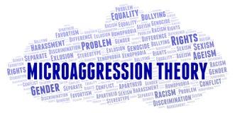 Microaggressions-Theorie - Art der Unterscheidung - Wortwolke vektor abbildung