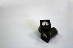 Microamperímetro del tipo de puntero en el fondo blanco Fotos de archivo