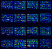 Microarrays de la DNA Imagen de archivo