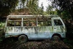 Microbús abandonado Foto de archivo