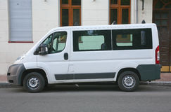 Microbús blanco Fotos de archivo