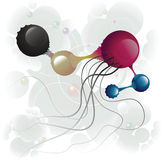 Microbe five. And color circle Royalty Free Stock Images
