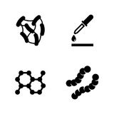 Microbe laboratory experiment. Simple Related Vector Icons Stock Images