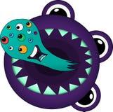 Microbes fantastiques de monstres de toilette Images stock