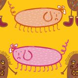 Microbes seamless pattern. Stock Photos