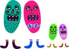 Microbes seamless pattern. Stock Image
