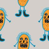 Microbes seamless pattern. Stock Images