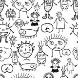 Microbes seamless pattern. Royalty Free Stock Photos