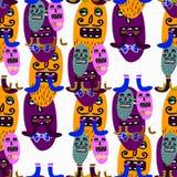 Microbes seamless pattern. Royalty Free Stock Photo