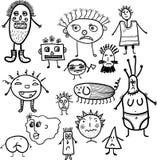 Microbes seamless pattern. Stock Photos