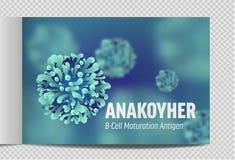 Microbiologia e virus del catalogo A4 3d microscopico royalty illustrazione gratis