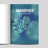 Microbiologia e virus del catalogo A4 3d microscopico illustrazione vettoriale