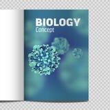 Microbiologia e virus del catalogo A4 3d microscopico illustrazione di stock